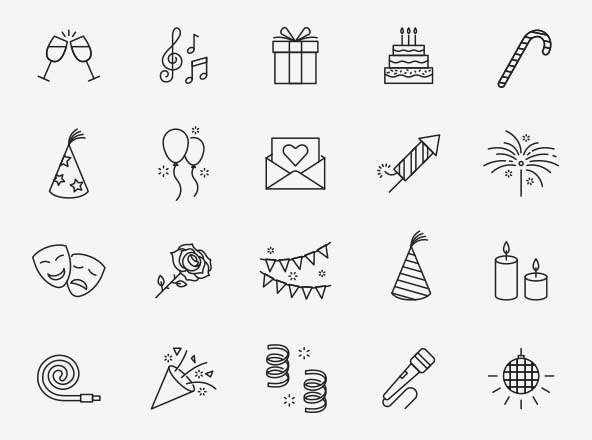 Celebration Vector Icons
