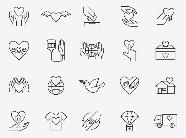 Charity Vector Icons