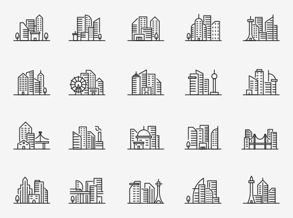 Cityscape Vector Icons