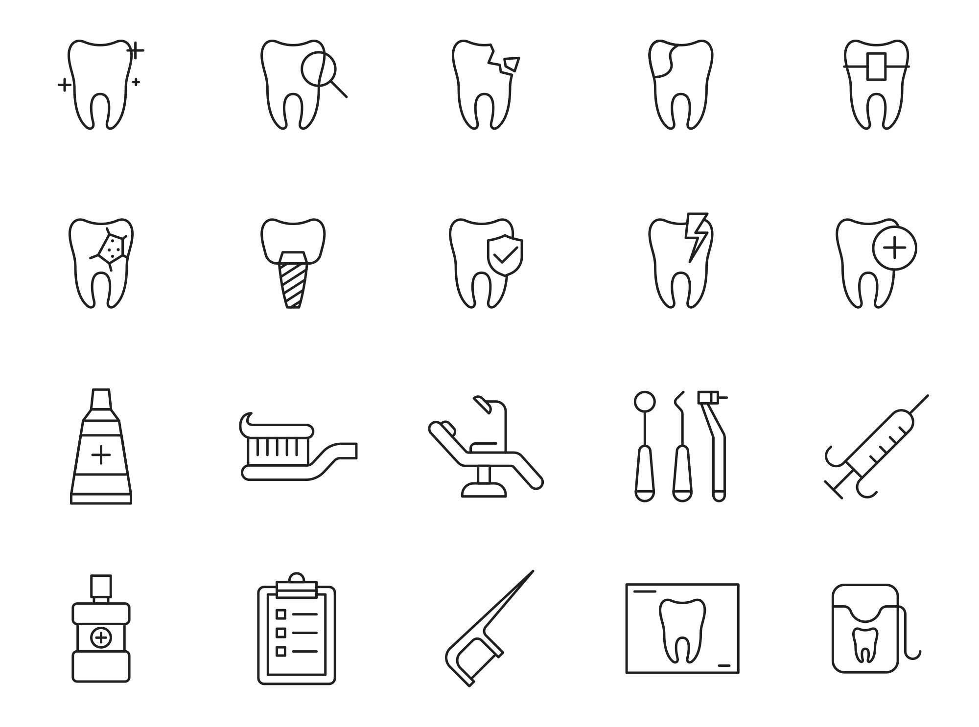 Dental Vector Icons