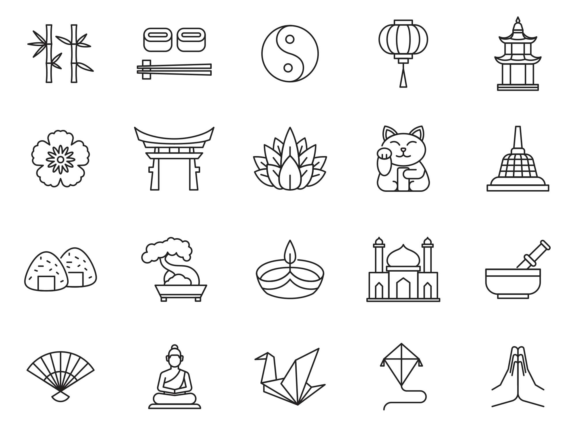 Asia Vector Icons