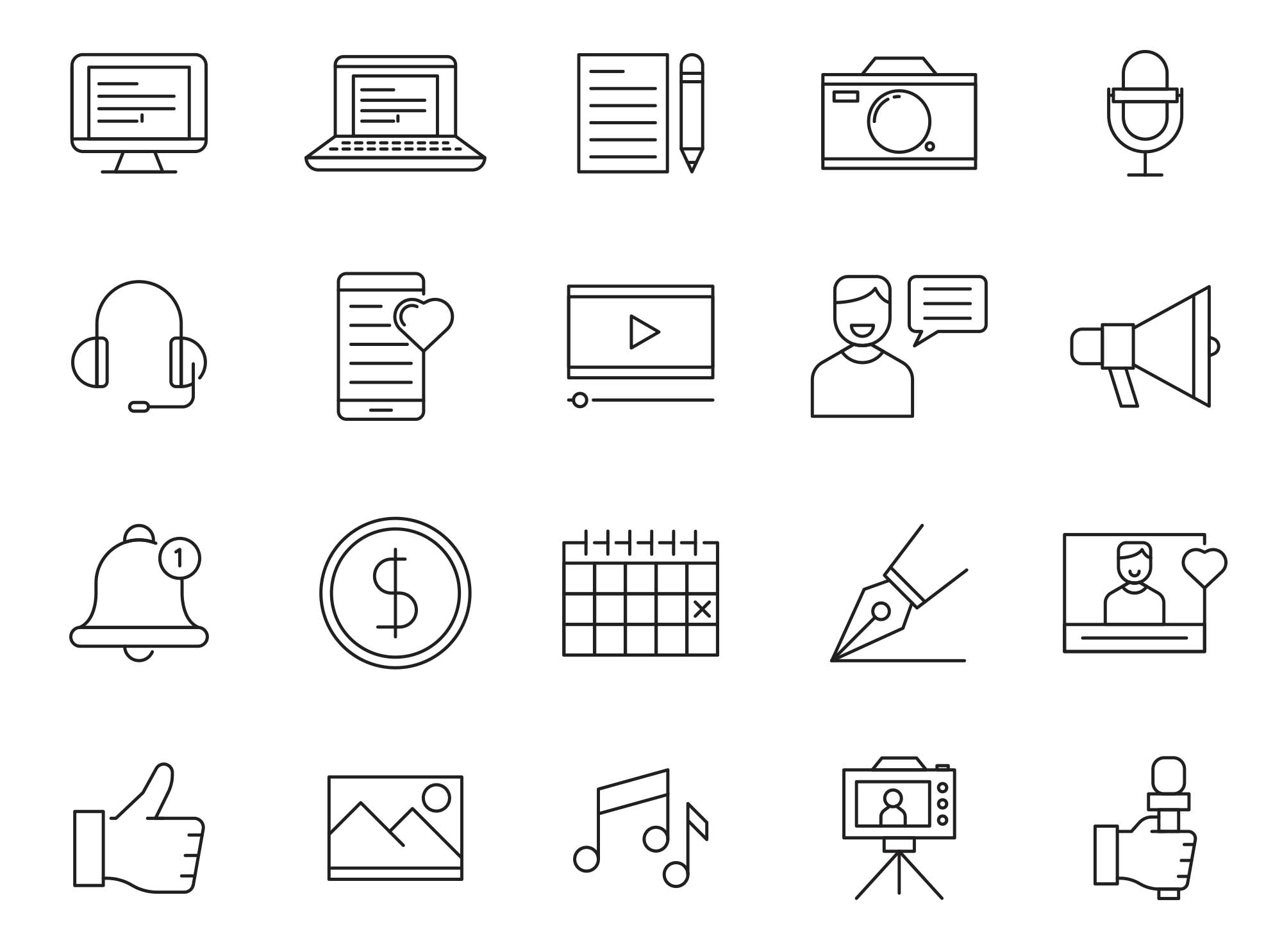 Blogger Vector Icons