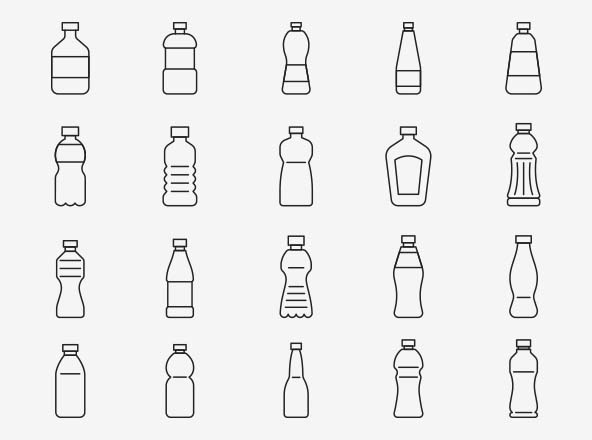 Bottle Vector Icons