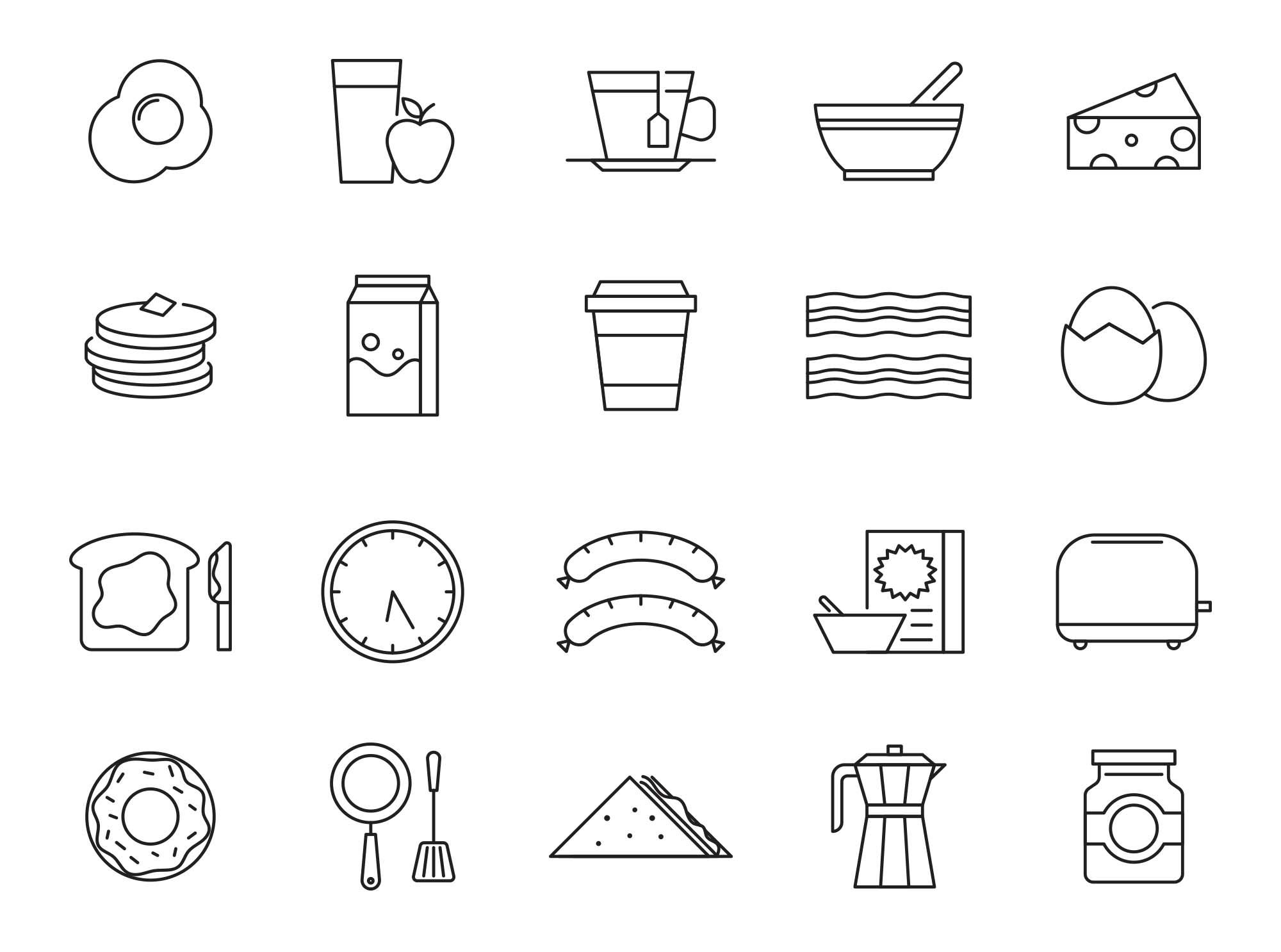 Breakfast Vector Icons
