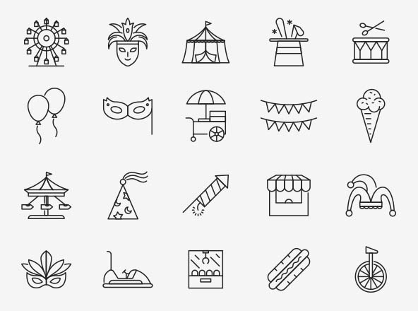 Carnival Vector Icons