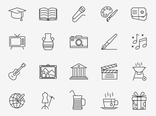 Culture Vector Icons