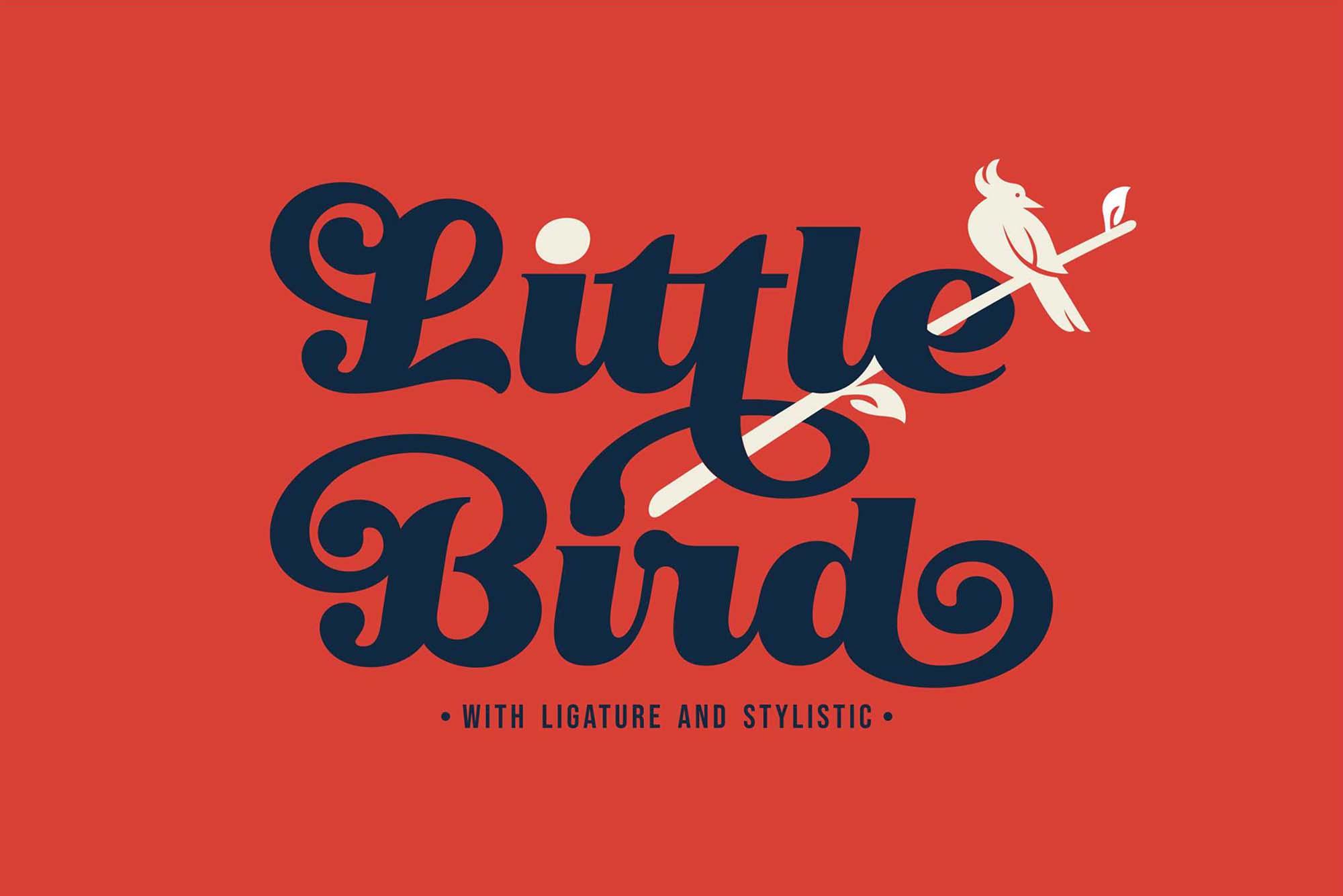 Little Bird Script Font 8