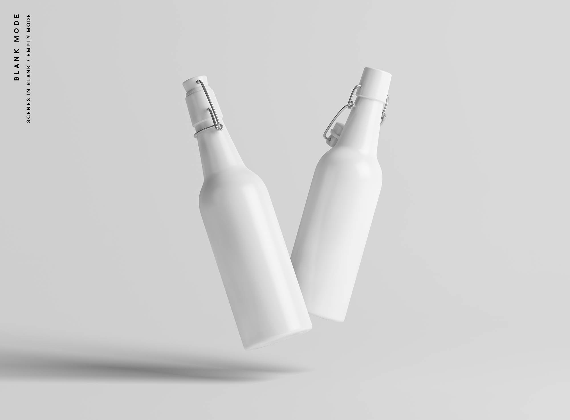 Matt Bottles Mockup - Blank