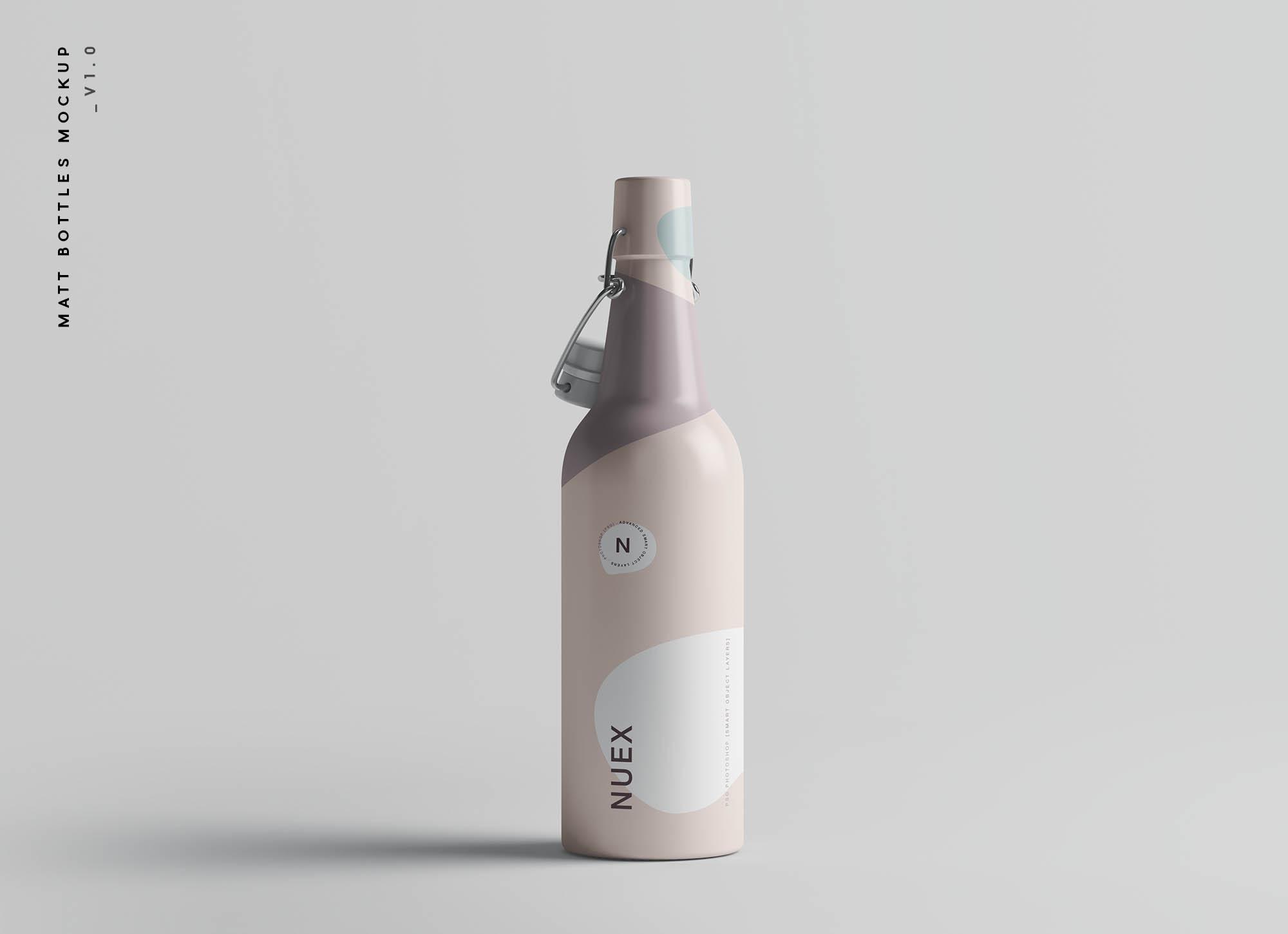 Matt Bottles Mockup