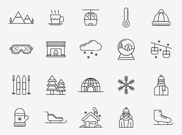 Alpine Vector Icons
