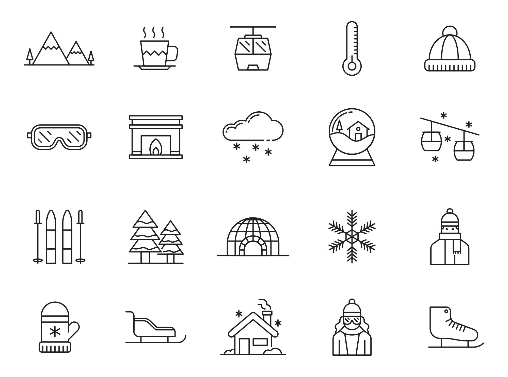Alpine Vector Icons