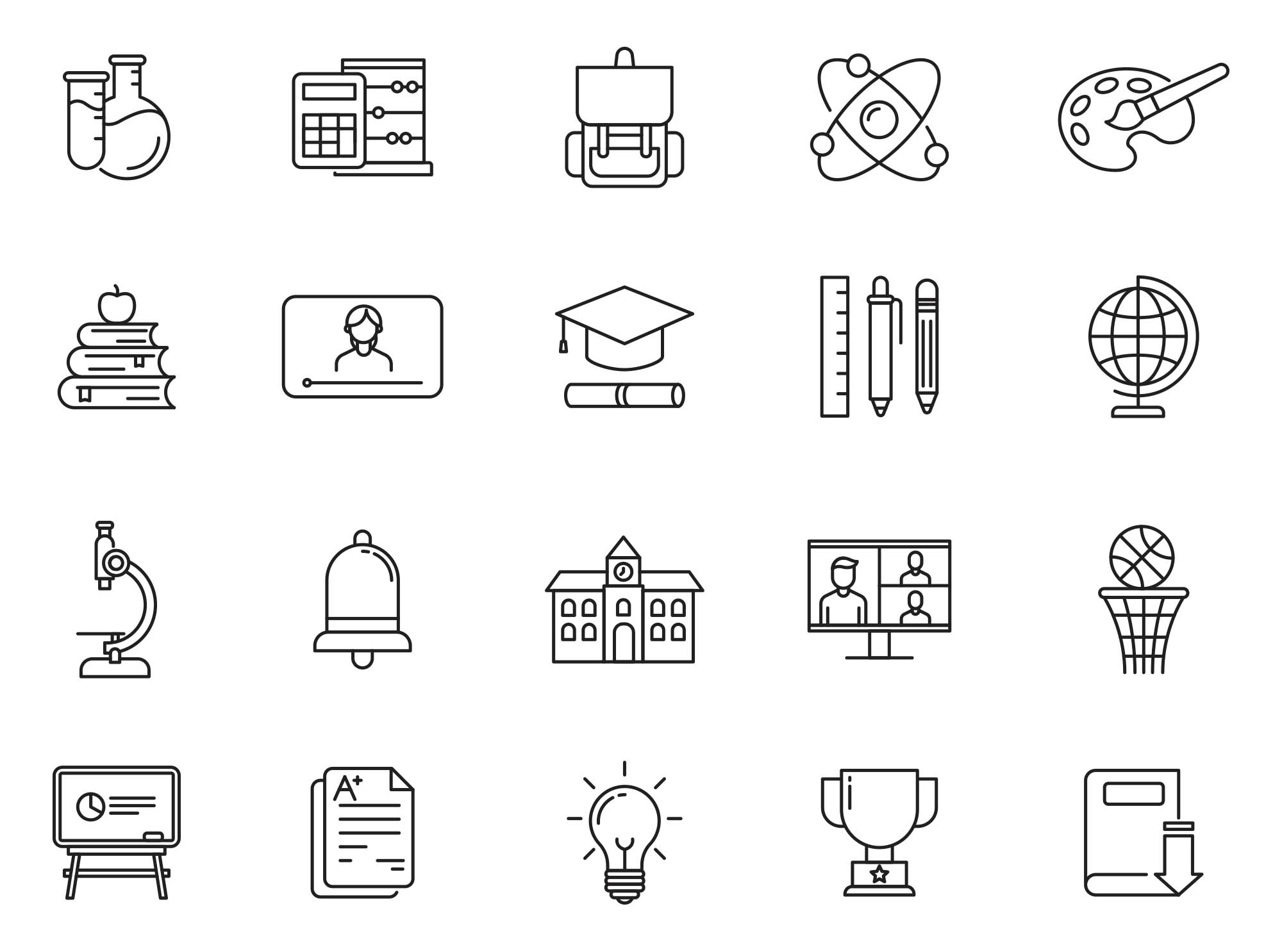 Back to School Vector Icons