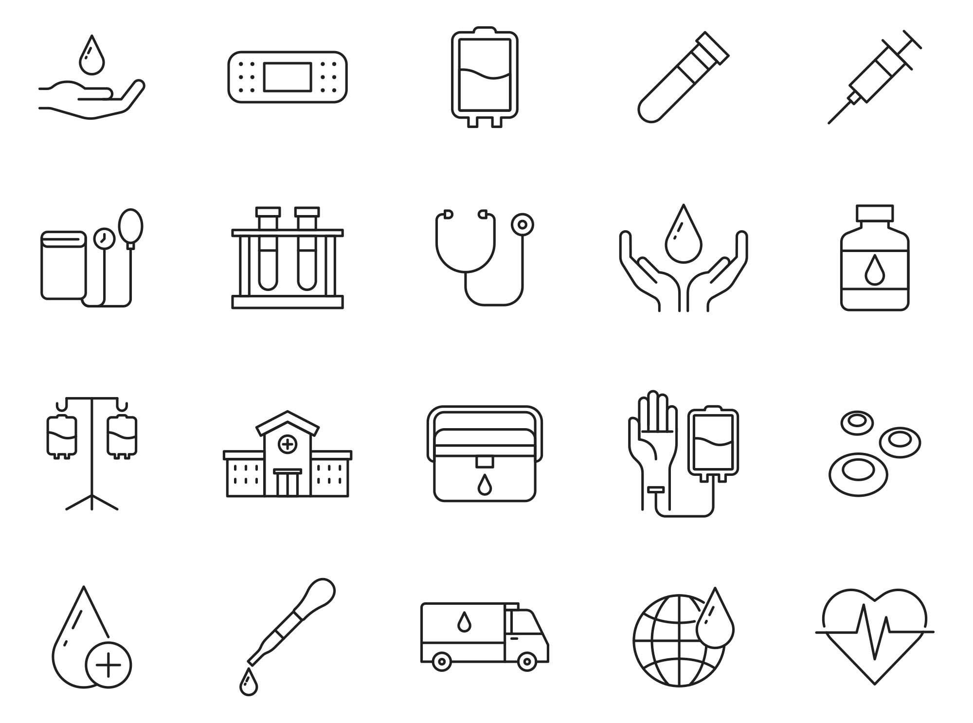 Blood Donation Vector Icons