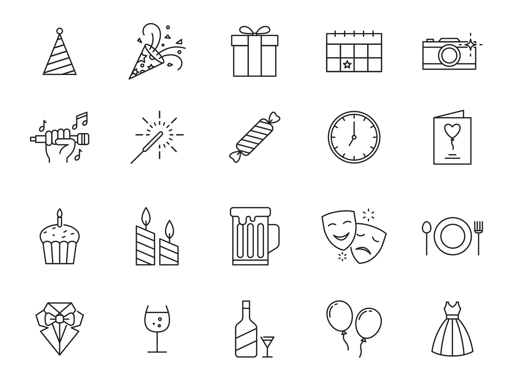 Celebration & Party Vector Icons 2
