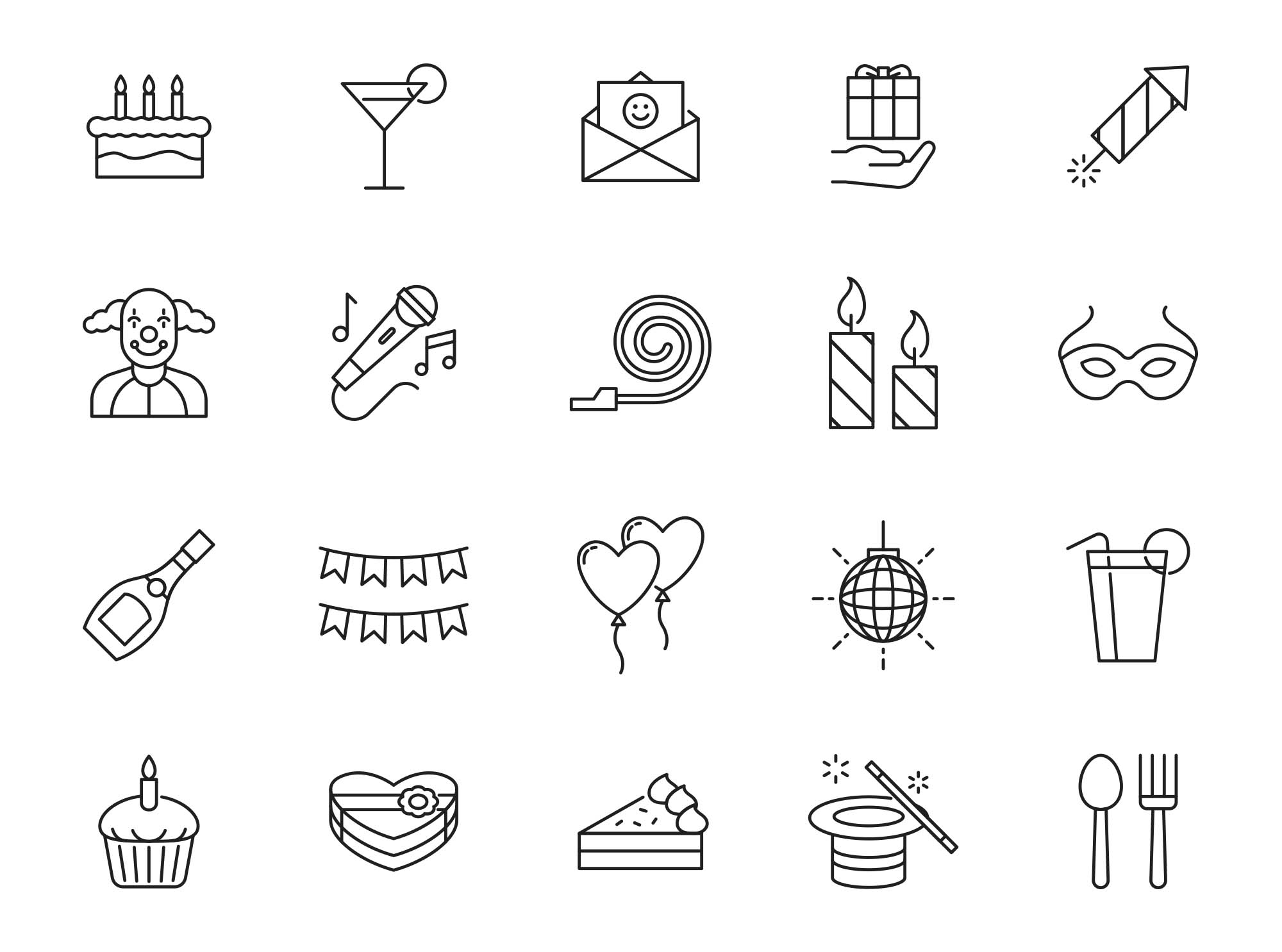 Celebration & Party Vector Icons 3