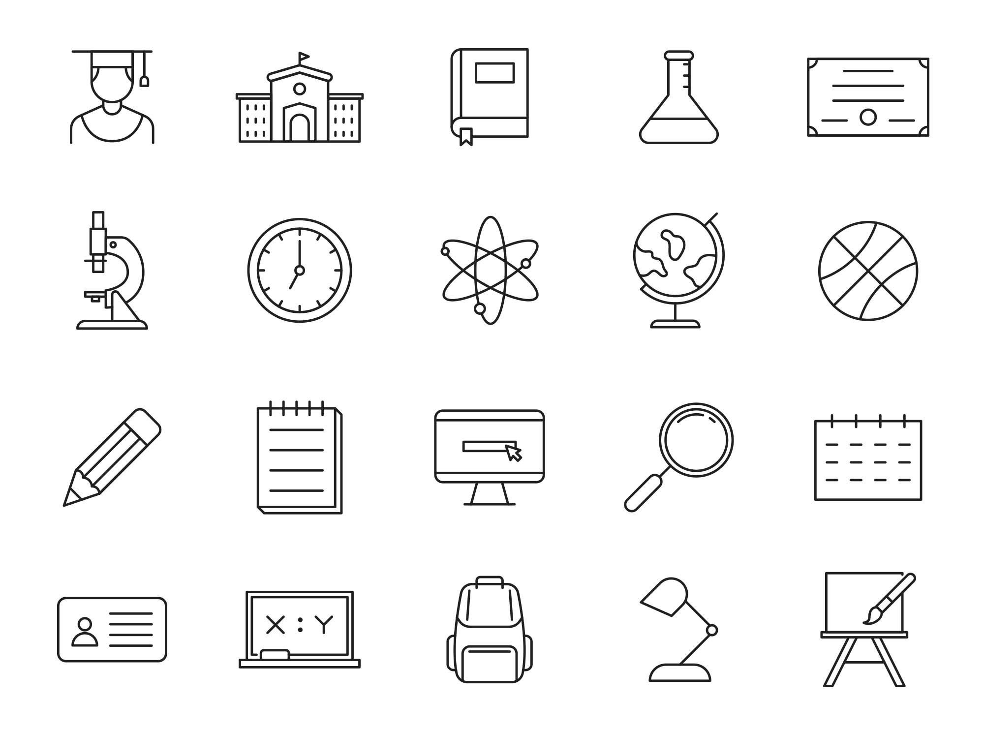 College Vector Icons