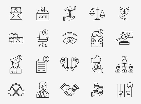 Corruption Vector Icons