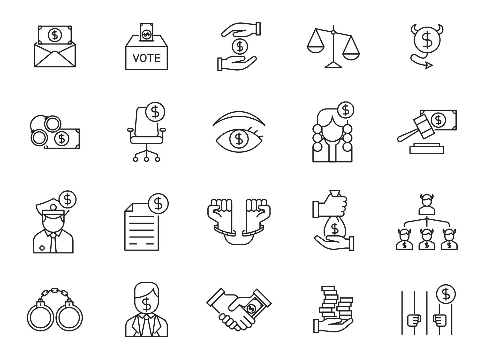Corruption Vector Icons