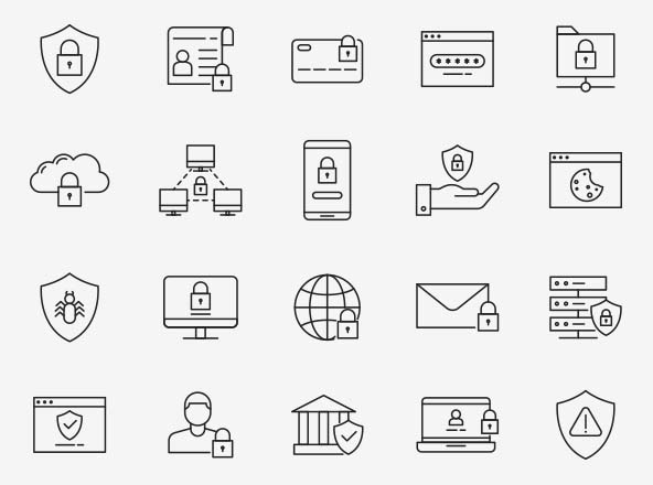 Data Protection Vector Icons
