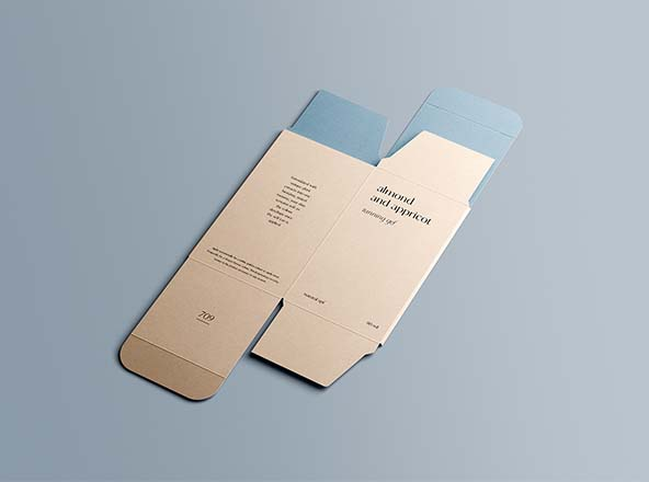 Unfolded Rectangle Box Mockup
