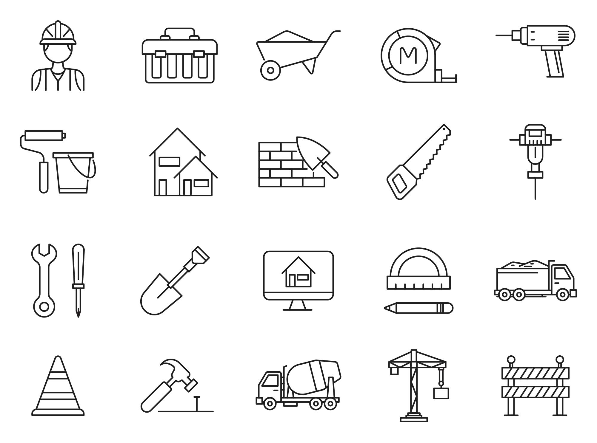 80 Constructions Icons