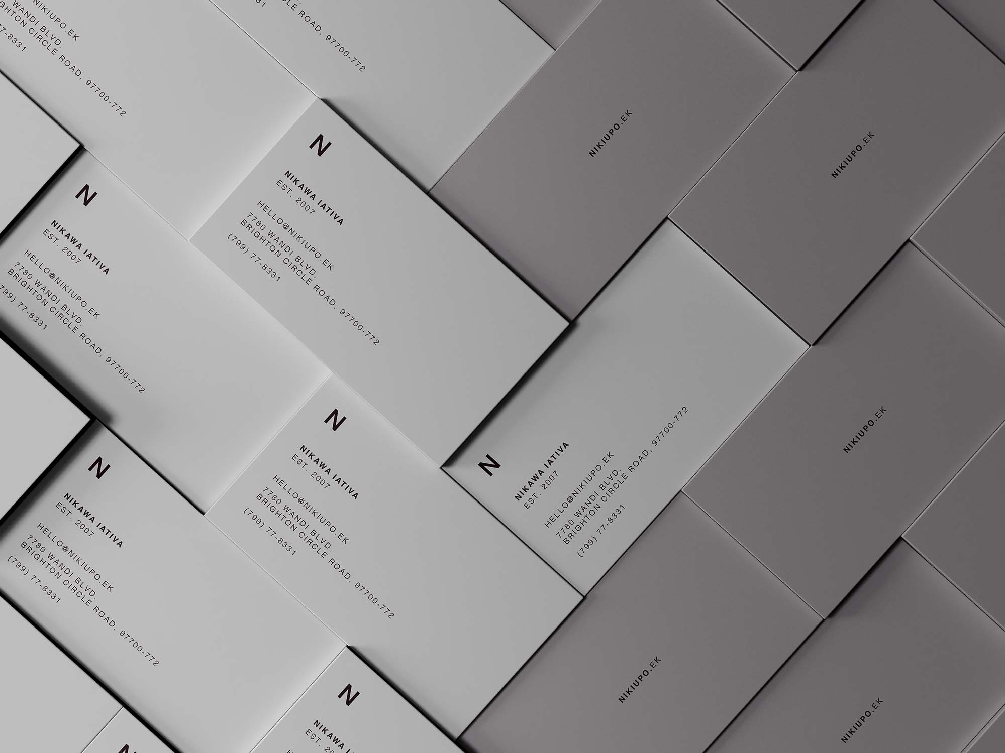Stacked Business Cards Mockup