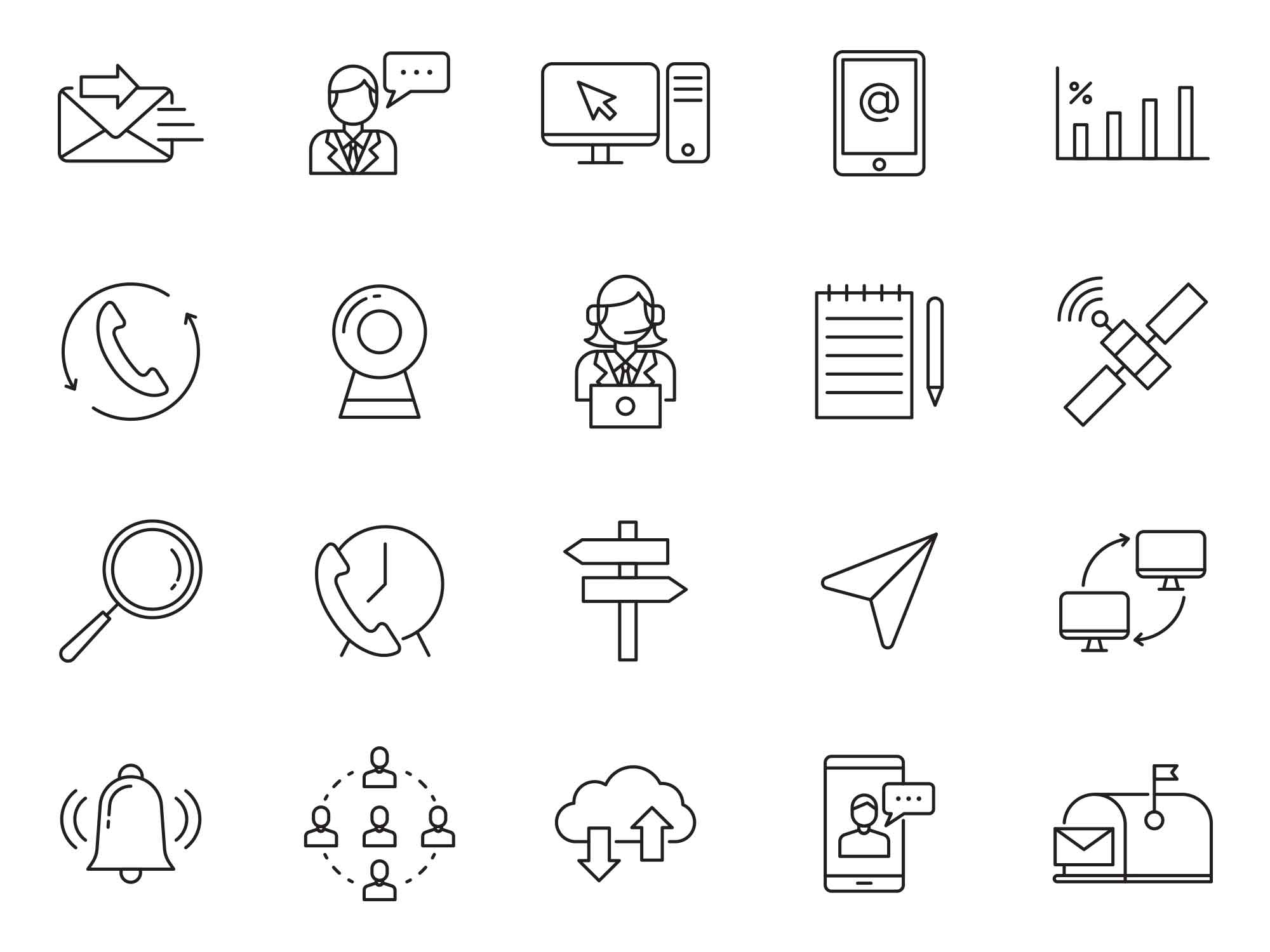 Communication Vector Icons 2