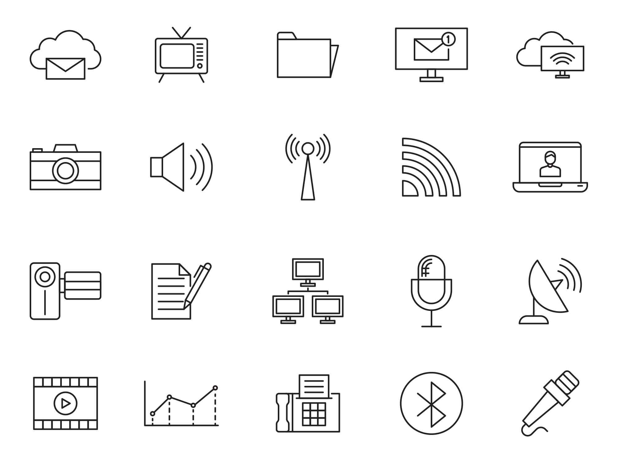 Communication Vector Icons 3