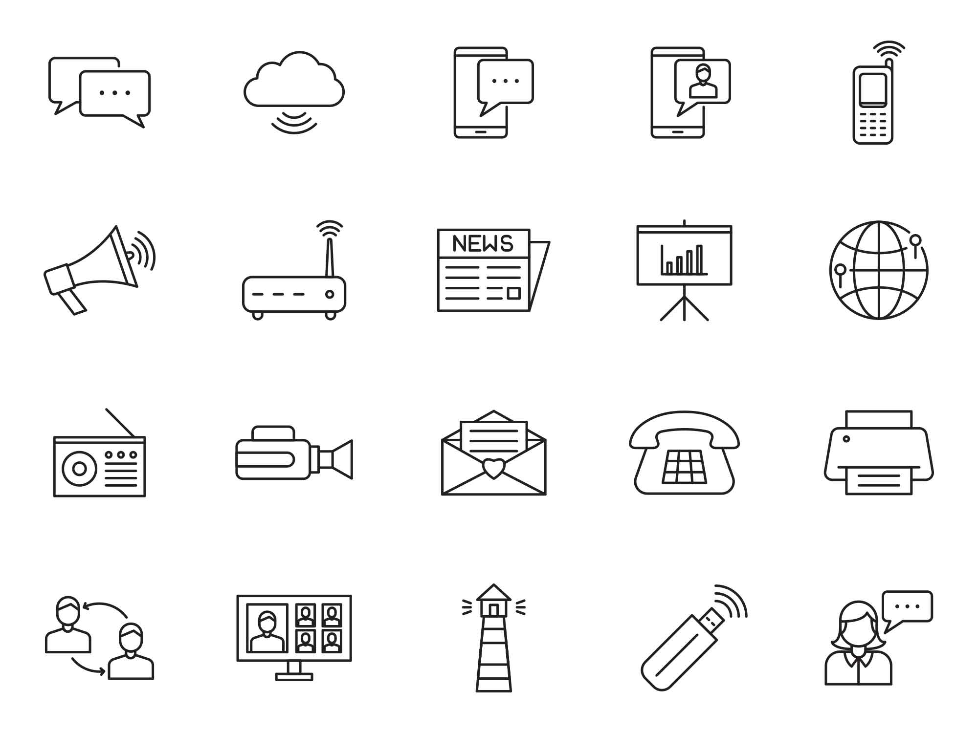 Communication Vector Icons 4