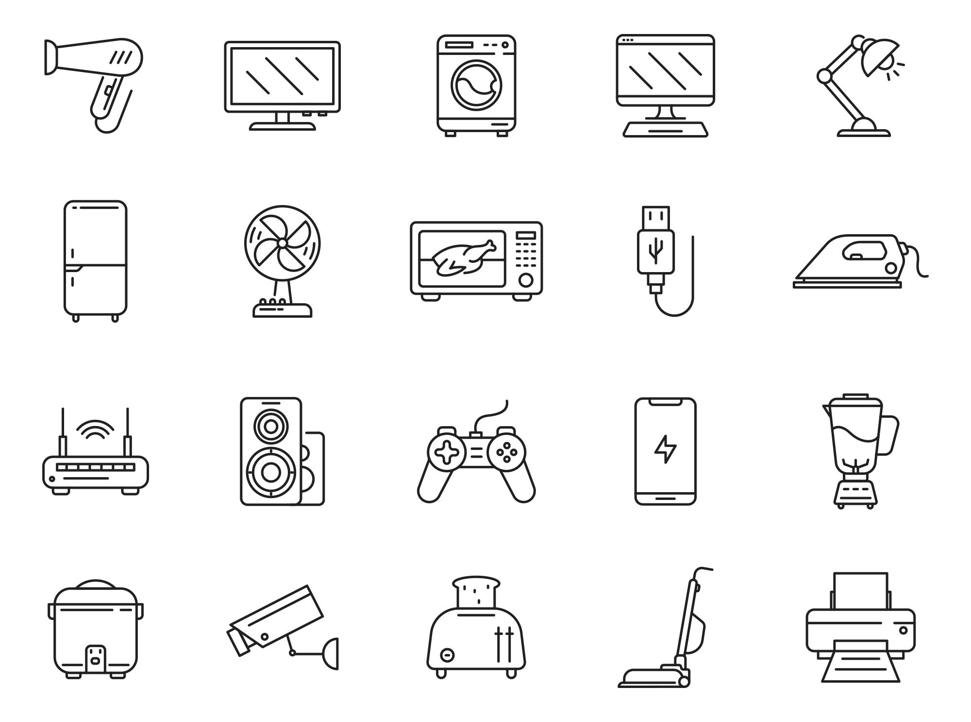 Electronics Vector Icons 2