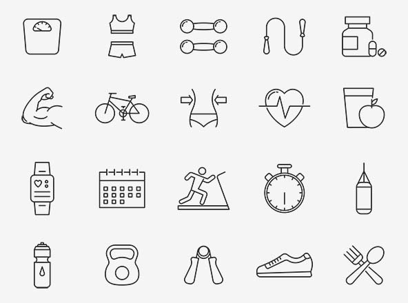 Exercise Vector Icons