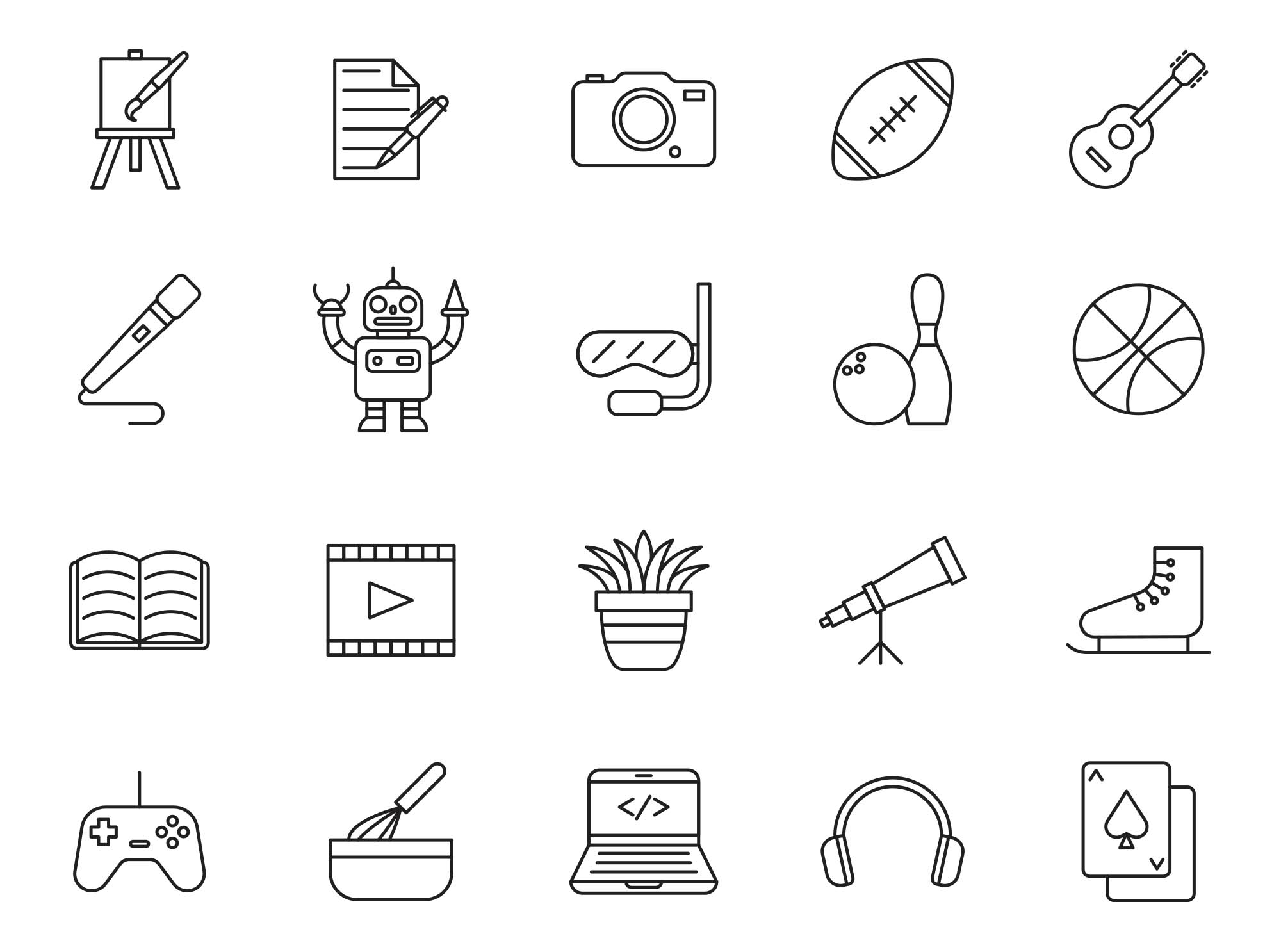 Hobby Vector Icons