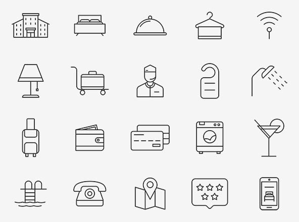 Hotel Vector Icons