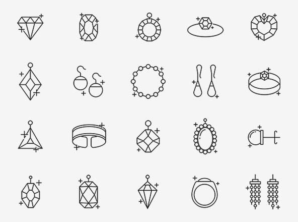 Jewelry Vector Icons