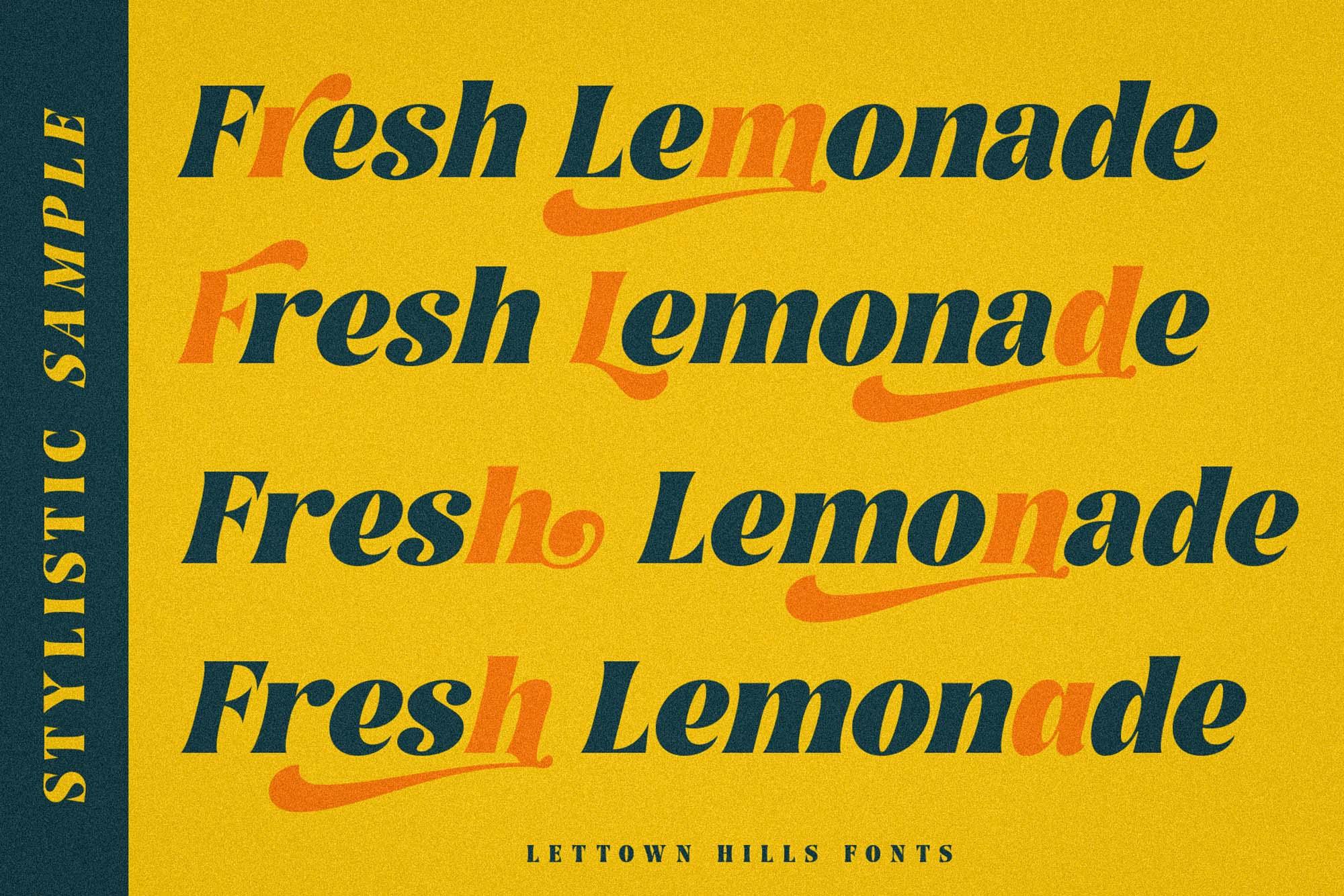 Lettown Hills Font 3