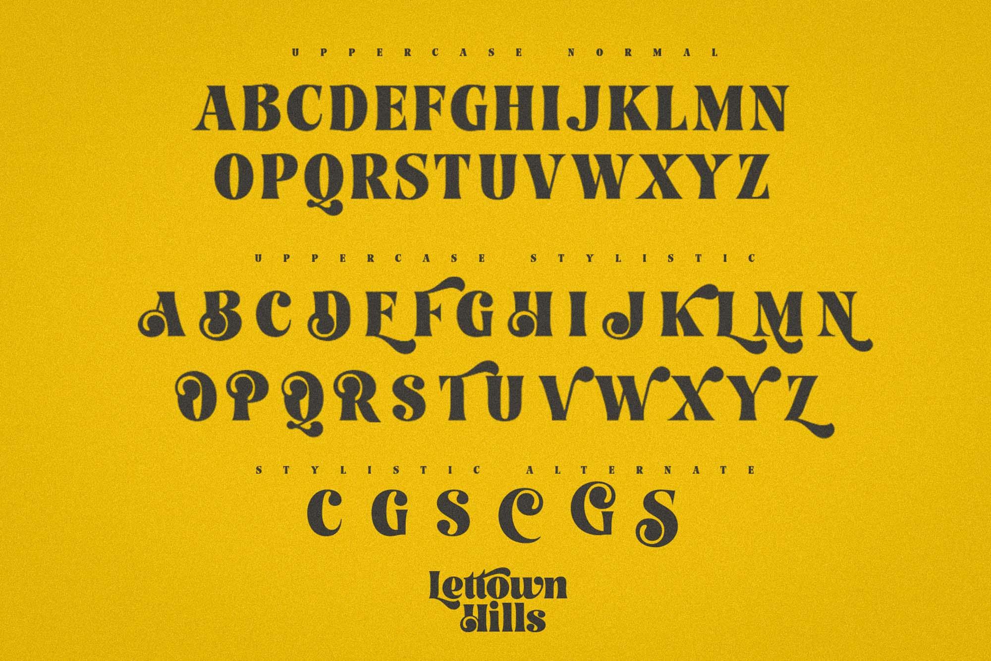 Lettown Hills Font 6