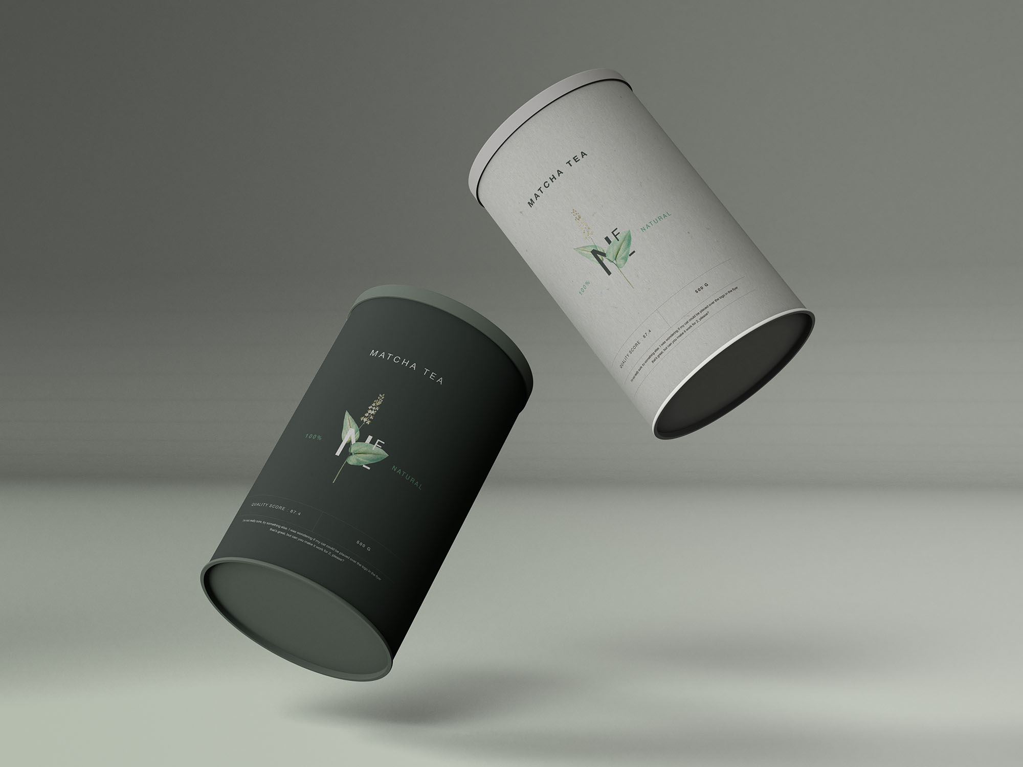 Cylinder Container Mockup