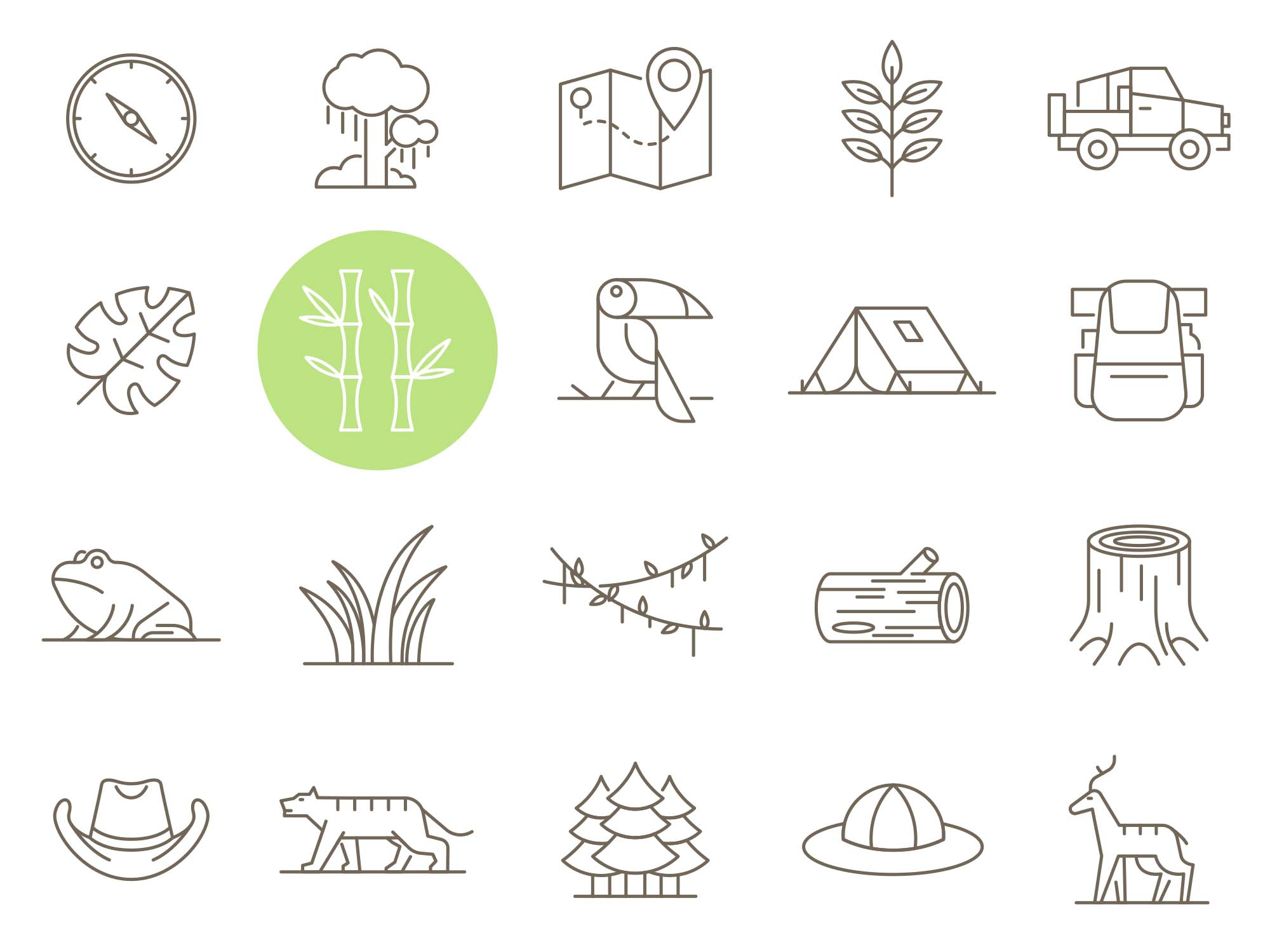 Jungle Vector Icons