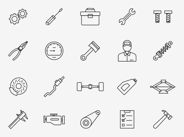 Mechanic Vector Icons