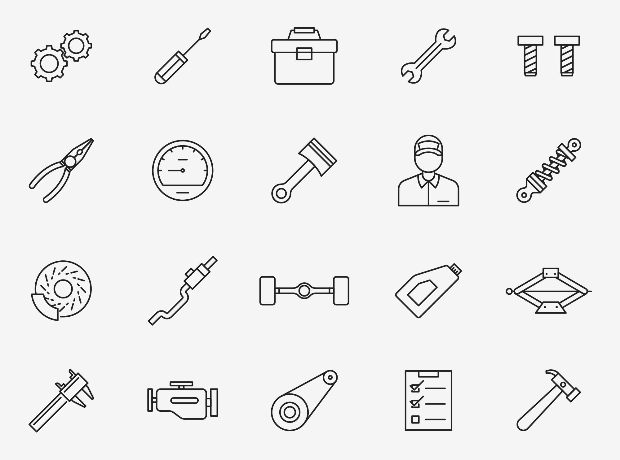 Mechanic Vector Icons
