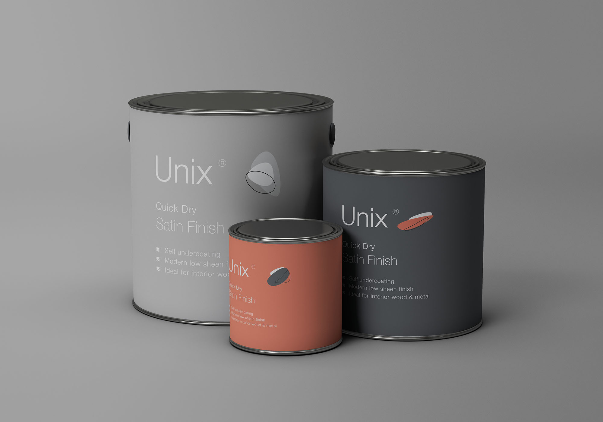 Metal Paint Bucket Mockup