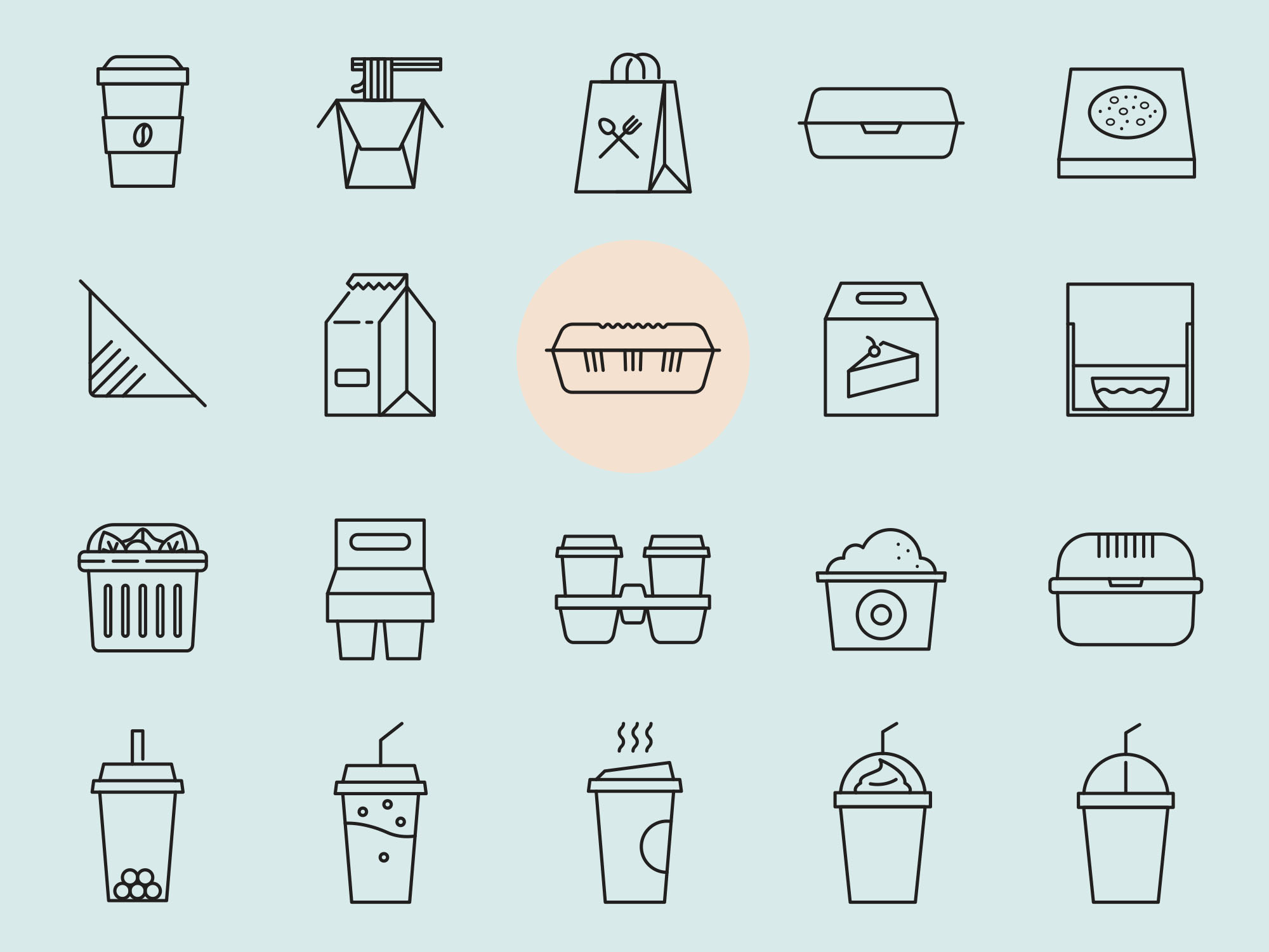 Takeaway Vector Icons