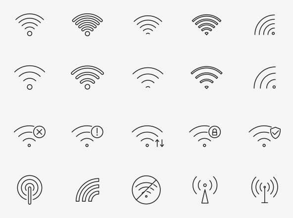 Wifi Vector Icons