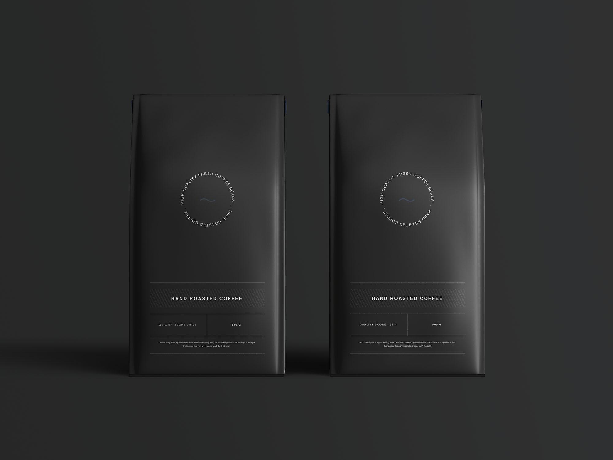 Coffee Bag Mockup 3