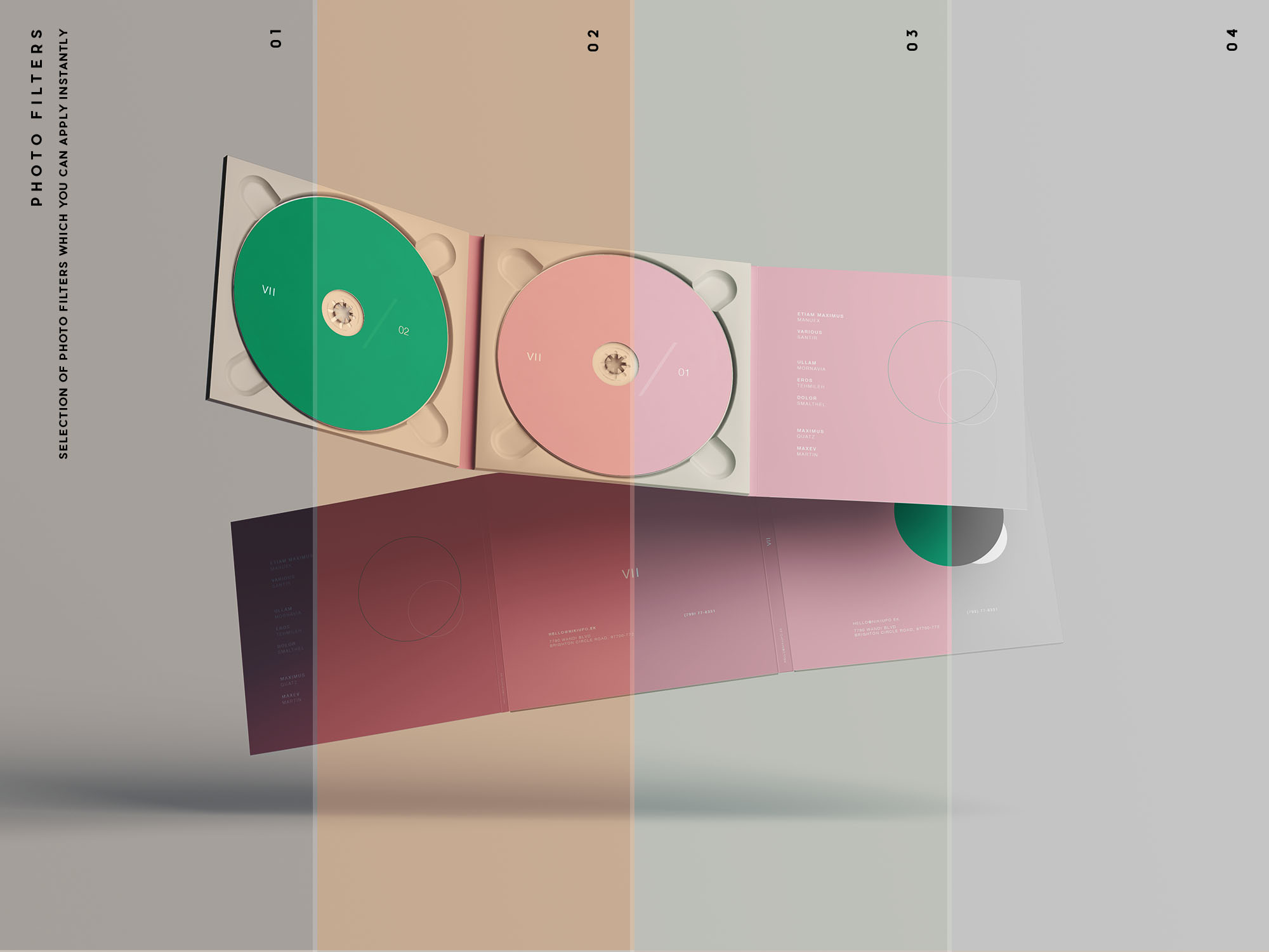 Digipak CD Mockup Filters