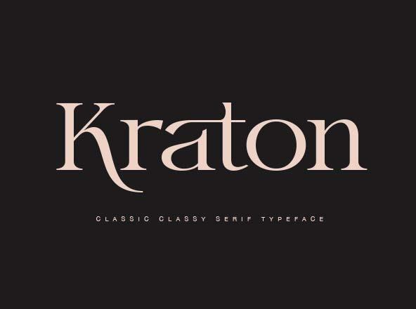 Kraton Classy Serif Font