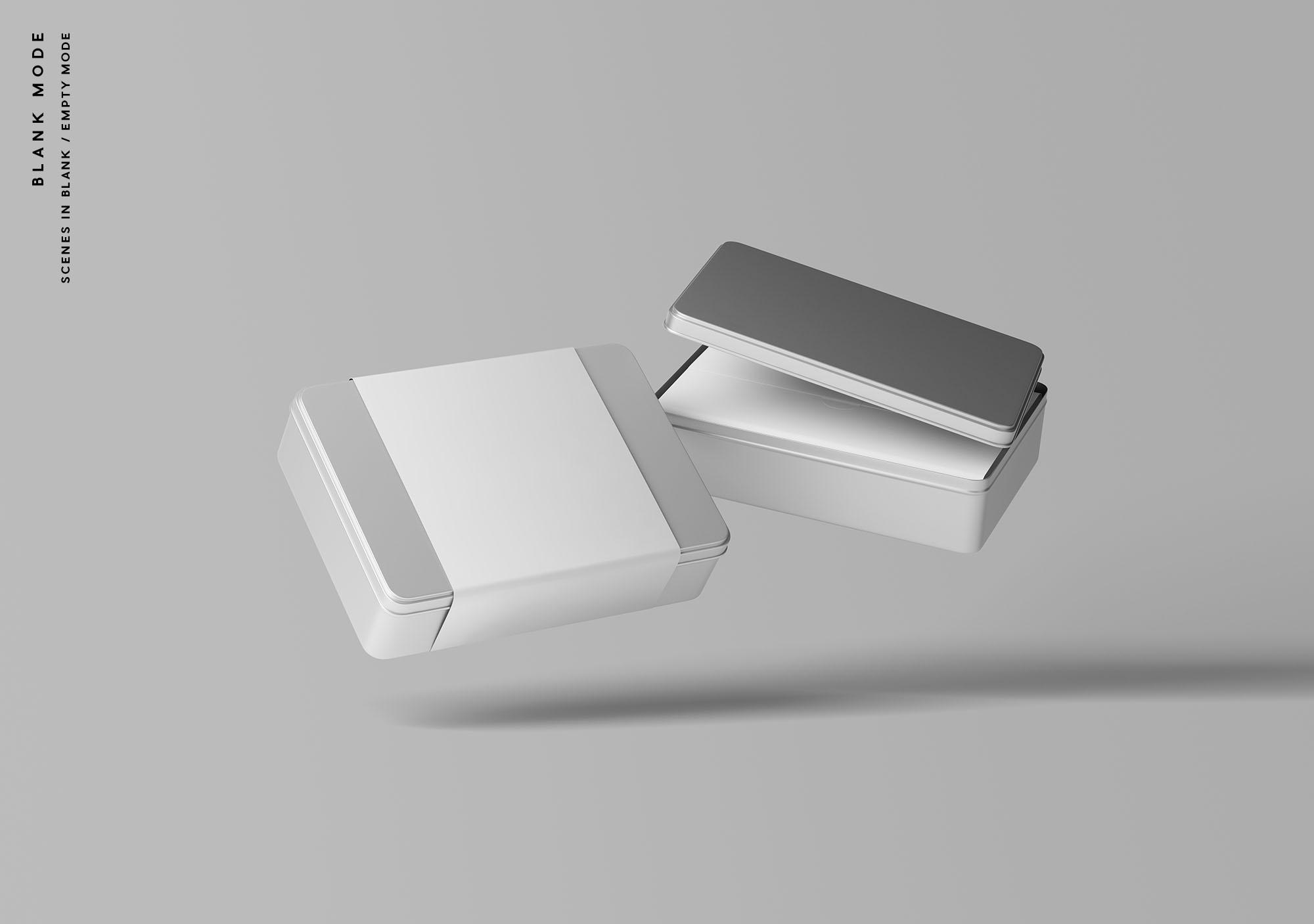 Metal Box Mockup - Blank Mode