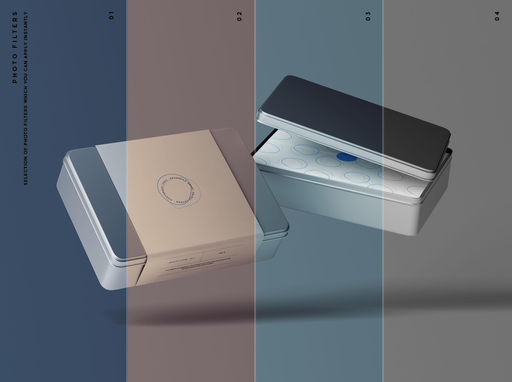 Metal Box Mockup Filters