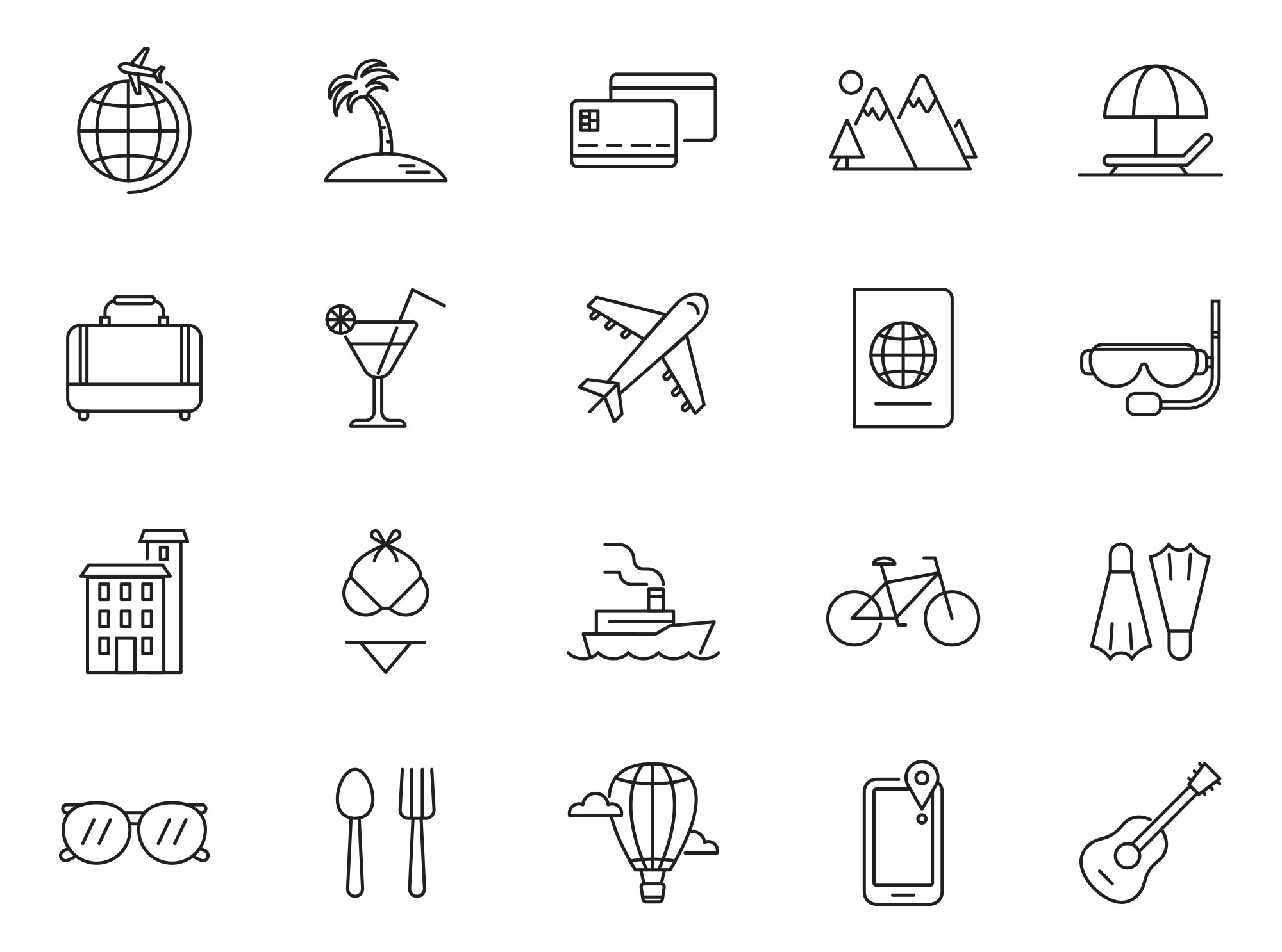 Vacation Vector Icons