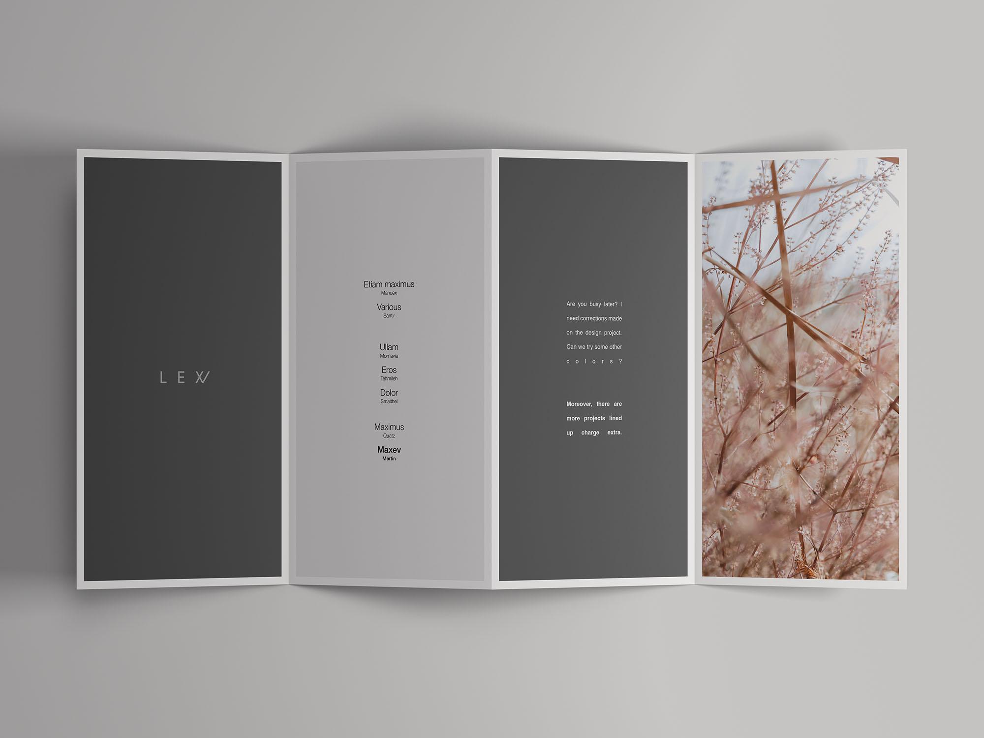 4-Fold Open Brochure Mockup